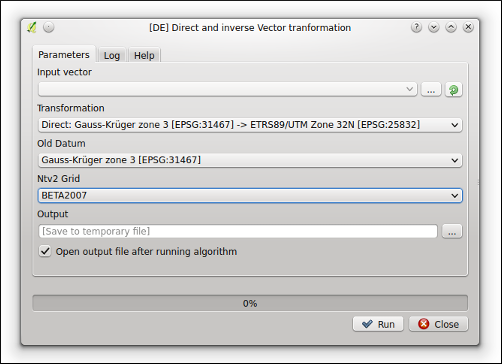 Ntv2 Datum transformations for the QGIS Processing toolbox